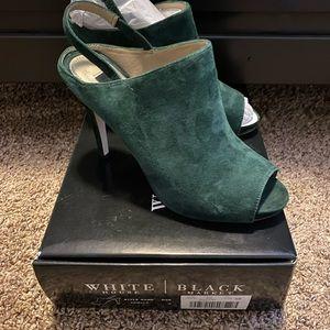 White House Black Market green heels